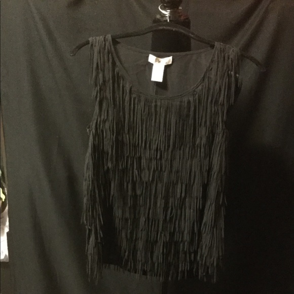 Pinky Tops - Sheer Fringed Blouse